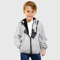 Куртка с капюшоном детская Фотоаппарат на груди цвета 3D-черный — фото 2