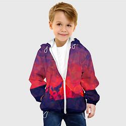 Куртка с капюшоном детская Абстракция цвета 3D-белый — фото 2