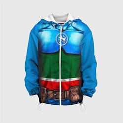Куртка с капюшоном детская Капитан Татарстан цвета 3D-белый — фото 1