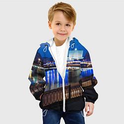 Куртка с капюшоном детская Москва цвета 3D-белый — фото 2