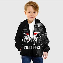 Куртка с капюшоном детская Спецназ 16 цвета 3D-черный — фото 2