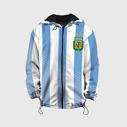 Куртка с капюшоном детская Сборная Аргентины: ЧМ-2018 цвета 3D-черный — фото 1