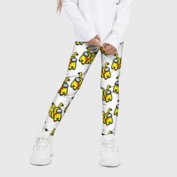 Леггинсы для девочки Among us Pikachu цвета 3D — фото 2