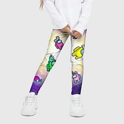 Детские 3D-лосины для девочки с принтом Among us - просто космос, цвет: 3D, артикул: 10285303105603 — фото 2