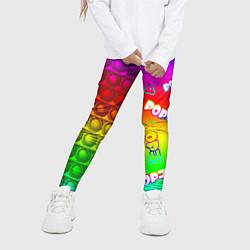 Леггинсы для девочки POP it! цвета 3D — фото 2