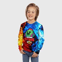 Детский 3D-лонгслив с принтом Brawl Stars Spike, цвет: 3D, артикул: 10201494705609 — фото 2