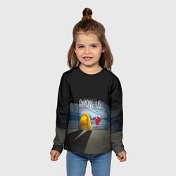 Лонгслив детский Among Us in the tunnel цвета 3D — фото 2