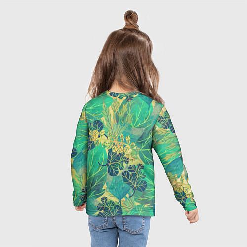 Детский лонгслив Узор из листьев / 3D – фото 6