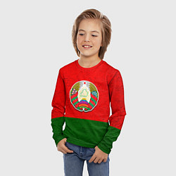 Лонгслив детский Герб Беларуси цвета 3D — фото 2