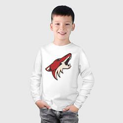 Лонгслив хлопковый детский Phoenix Coyotes цвета белый — фото 2