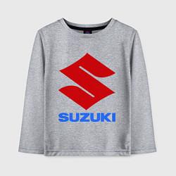 Лонгслив хлопковый детский Suzuki цвета меланж — фото 1