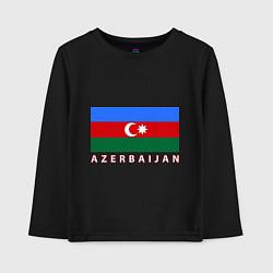 Лонгслив хлопковый детский Азербайджан цвета черный — фото 1