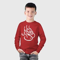 Лонгслив хлопковый детский Jah Khalib цвета красный — фото 2