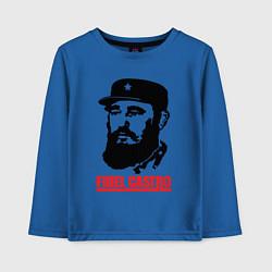 Лонгслив хлопковый детский Fidel Castro цвета синий — фото 1