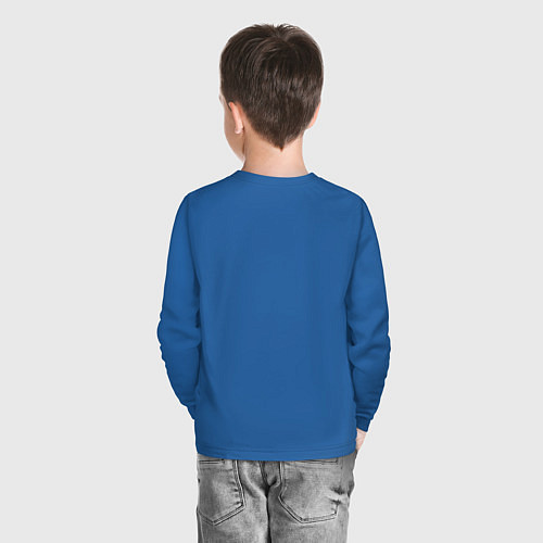 Детский лонгслив Подруги навеки / Синий – фото 4