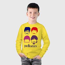 Лонгслив хлопковый детский The Beatles faces цвета желтый — фото 2