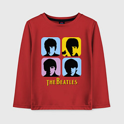 Лонгслив хлопковый детский The Beatles: pop-art цвета красный — фото 1