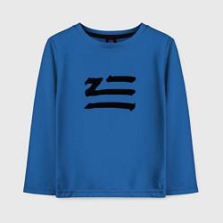 Лонгслив хлопковый детский ZHU цвета синий — фото 1