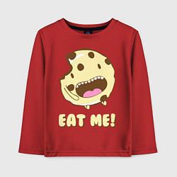 Лонгслив хлопковый детский Cake: Eat me! цвета красный — фото 1
