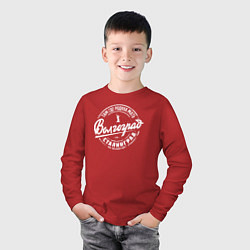 Лонгслив хлопковый детский Волгоград: родина мать цвета красный — фото 2