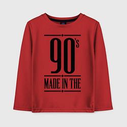 Лонгслив хлопковый детский Made in the 90s цвета красный — фото 1