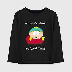 Лонгслив хлопковый детский ЮЖНЫЙ ПАРК цвета черный — фото 1