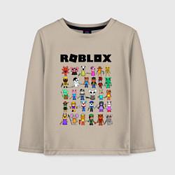 Лонгслив хлопковый детский ROBLOX PIGGY цвета миндальный — фото 1