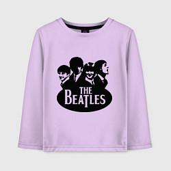 Лонгслив хлопковый детский The Beatles Band цвета лаванда — фото 1