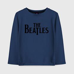 Лонгслив хлопковый детский The Beatles цвета тёмно-синий — фото 1