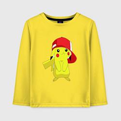 Лонгслив хлопковый детский Пикачу цвета желтый — фото 1