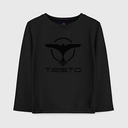 Лонгслив хлопковый детский Tiesto цвета черный — фото 1