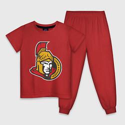 Пижама хлопковая детская Ottawa Senators цвета красный — фото 1