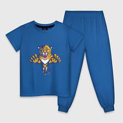 Пижама хлопковая детская Florida Panthers цвета синий — фото 1