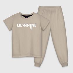 Пижама хлопковая детская Lil Wayne цвета миндальный — фото 1