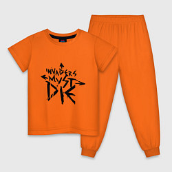 Пижама хлопковая детская The Prodigy: Invaders Must Die цвета оранжевый — фото 1