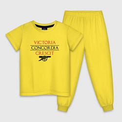 Пижама хлопковая детская Arsenal: Concordia Crescit цвета желтый — фото 1