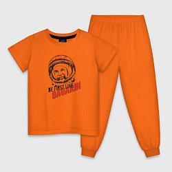 Пижама хлопковая детская Be first like цвета оранжевый — фото 1