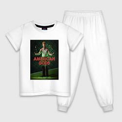 Пижама хлопковая детская American Gods: Mad Sweeney цвета белый — фото 1
