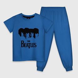 Пижама хлопковая детская The Beatles: Faces цвета синий — фото 1