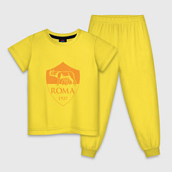 Пижама хлопковая детская AS Roma: Autumn Top цвета желтый — фото 1