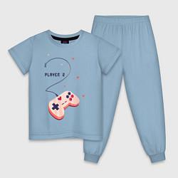 Пижама хлопковая детская Perfect Team: Player 1 цвета мягкое небо — фото 1