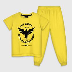 Пижама хлопковая детская The Eagle: Khabib UFC цвета желтый — фото 1