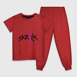 Пижама хлопковая детская Skrillex: violet цвета красный — фото 1