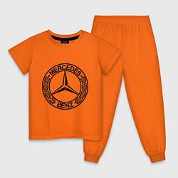 Пижама хлопковая детская Mercedes-Benz цвета оранжевый — фото 1