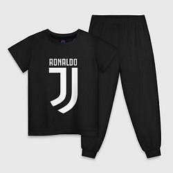 Пижама хлопковая детская Ronaldo CR7 цвета черный — фото 1