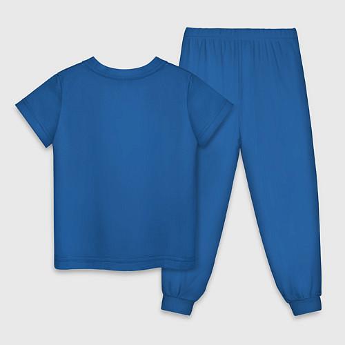 Детская пижама Да, я с ней / Синий – фото 2