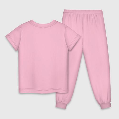 Детская пижама Эта ненормальная со мной / Светло-розовый – фото 2