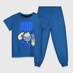 Пижама хлопковая детская ВДВ десантник цвета синий — фото 1