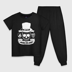 Пижама хлопковая детская Taboo: James Delaney цвета черный — фото 1