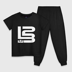 Пижама хлопковая детская Lebron James цвета черный — фото 1